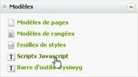 Scripts javascript - lien