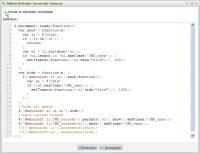 Scripts javascript - édition avec coloration